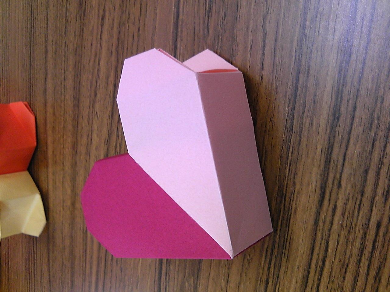 すべての折り紙 折り紙ハートボックス : ... ハートBOX(ハートの秘密箱